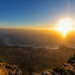 Sunset from the Table Mountain