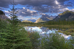 Savor (dbushue) Tags: trees mountains nature clouds reflections landscape evening nikon lakes albertacanada 2012 banffnationalpark vermillionlakes coth supershot absolutelystunningscapes d7000 coth5 photocontesttnc12 dailynaturetnc12