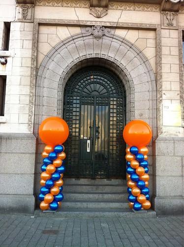 Ballonpilaar Breed Rond Ooms Makelaardij Rotterdam
