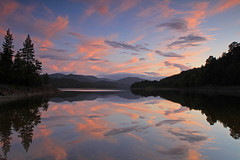Sky Reflections. (Gordie Broon.) Tags: trees sunset summer mountains nature water clouds reflections landscape geotagged photography scotland scenery alba scenic escocia explore pines midges glenaffric schottland ecosse invernessshire scottishhighlands explored explorefrontpage cannich skyreflections lochbeinnamheadhoin canoneos7d bestcapturesaoi coth5 gordiebroon elitegalleryaoi