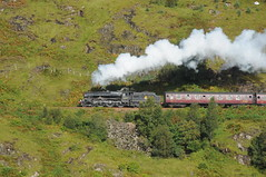 Glenfinnan Scotland 12th September 2012 (loose_grip_99) Tags: railroad mountain black heritage train scotland highlands 5 engine rail railway trains steam locomotive railways glenfinnan westhighland lms 460 jacobite 45407 uksteam gassteam