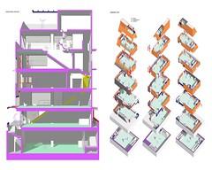 07 jamwon 40.6 long section + axo (motoelastico) Tags: architecture nest interior korea racing seoul jongno  signboards jamwon  marcobruno simonecarena motoelastico jongno5 seoulrider cesariocarena
