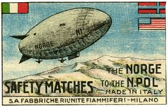 The Norge to the North Pole Safety Matches (Alan Mays) Tags: old blue 1920s red italy usa white milan green norway vintage ads advertising grey norge unitedstates antique milano gray flags safety ephemera arctic labels sa matches ellsworth explorers exploration advertisements factories manufacturers northpole blimps matchboxlabels airships amundsen expeditions matchboxes nobile dirigibles roaldamundsen polarregions umbertonobile societanonima arcticexpeditions lincolnellsworth arcticexploration safabbricheriunitefiammiferi fabbricheriunitefiammiferi