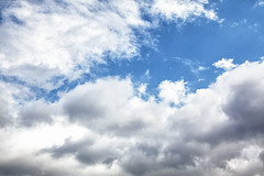 Sky and Clouds Overhead (bukharov) Tags: blue sky white nature clouds overhead    firstdayoffall