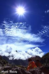 Under the Blue (AvijitNandy) Tags: sky mountain monk bluesky canon1740f4l canon1dmarkiv