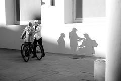 Talking Shadows (Tobi_2008) Tags: people wall germany deutschland dresden blackwhite shadows wand menschen schwarzweiss allemagne schatten bestcapturesaoi mygearandme mygearandmepremium mygearandmebronze mygearandmesilver