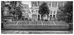 Titanic Memorial Garden (D.k.o.w) Tags: belfastcityhall belfast titanic plinth memorialgarden names blackandwhite mono bw canon7dmkii northern ireland