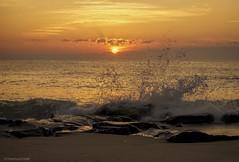 Smashing morning.... (Joe Hengel) Tags: rehobothbeach delaware beach morning sunrise sun summer summertime summersunshine sea seascape seaside seashore waves water watchingthesunrise ocean outdoor atlanticocean orange golden gold rocks crashing smashing gordonspond