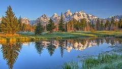 Tetons (L. Bradfish) Tags: copyrightlbradfish tetons wyoming schwabacherlanding reflection mountains panasonic gm5
