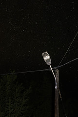 Lampadaire toil (-Baptiste Coub-) Tags: baptistecoubronne 35mn forest night nikon trees chablais exposure exterrieur long nightsky outdoor wow