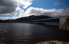 Bergsysund Bridge (jforberg) Tags: 2016 bridges bru norway noregia norwegian norwegen norge road turist water sky cloudy cloud canon fotografische scandinavia sea