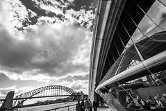 DSC01345 (Damir Govorcin Photography) Tags: sydney harbour bridge opera house people clouds zeiss 1635mm sony a7ii water