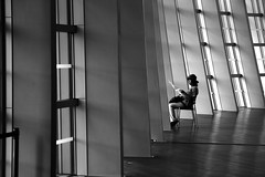 On the abandoned chair (pascalcolin1) Tags: tokyo japan nationalartcenter chaise chair photoderue streetview urbanarte noiretblanc blackandwhite photopascalcolin
