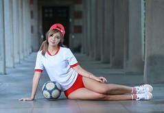 DP1U9864 (c0466art) Tags: cute lovely pretty high school girl red hot pants sport uniform play ball charming attractive gorgeous outdoor portrait light canon 1dx c0466art