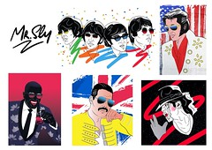 Icons (mrsly1) Tags: queen illustration art urbanart graphicdesign popart pop music rock queenband band freddymercury radiogaga british london artdealer wow glasses cool unionjack champions bicycle banksy mrsly 80s contemparyart newartist flag idle star michealjackson jackson kingofpop new artwork popmusic jacko stripe space galaxy sparkle black glitter fashion thriller bad linework illustrator contemporaryart limitededition original mj jackohat mrslyart contempory