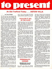 Manchester United vs Aston Villa - 1980 - Page 17 (The Sky Strikers) Tags: manchester united aston villa football league division one old trafford review 20p