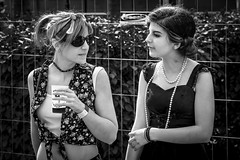 The girlfriends of the 30s... (Periades) Tags: bw blackandwhite blackwhite candid fille femme fashion girl glasses girlfriends human jewel bijou lunettes mode nb noiretblanc photoderue rue streetphotography street streethuman woman
