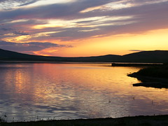 Sunset at the loch (stuartcroy) Tags: scotland scenery sky sea still sony sunset orkney island beautiful orphir orange reflection kirkwall kirbister ripples