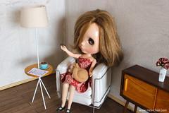 Mid-century modern room (Mini-Chair) Tags: blythe blythefurniture blythedoll midcenturymodern miniaturefurniture 16scale 16scalefurniture 16diorama playscale display dollfurniture dollhouse