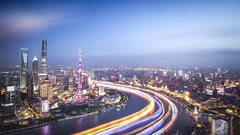 Light River (/DoveLee/LiGe) Tags: shanghai china night city cityscape architecture river light skyline lujiazui urban