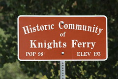 Knights Ferry Sign