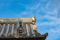 Nanzenji Temple (Hiro_A) Tags: nanzenji kyoto japan temple roof tile gargoyle ridgeend sky cloud nikon d7200 sigma 1770mm 1770 sightseeing historical landmark zen
