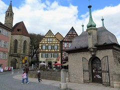 Historic city centre of Schwbisch-Hall in Baden-Wrttemberg (Sokleine) Tags: heritage historic history houses buildings architecture dcorarchitectural details towers schwbischhall hall badenwrttemberg germany deutschland allemagne colombages halftimbered church glise kirche