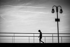 good by summer (Sandy...J) Tags: nikon d5200 atmosphere atmosphre alone allein italien italy light silhouette lines blackwhite bw black einfarbig fotografie gehen gegenlicht walk walking white sw schwarzweis summer spazieren monochrom mono man mann