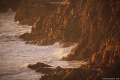 """Tramonto dorato alla spiaggia """"The Murder Hole"""" - Donegal (Matteo Rinaldi.it) Tags: themurderhole spiaggia donegal irlanda tramonto landscape stampa seascape scogliere"""