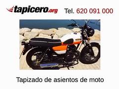 Tapizar el asiento de moto en Tapicero.org (Tapizados y gel para asientos de moto) Tags: tapiceroorg tapizar moto gel sillin