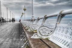 Devon Pier (hunter.paul) Tags: devon hdr seaside pier dof fun lines sky clouds harbour beach summer cloudy flickr cool
