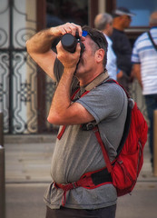photographer (try...error) Tags: male street streetphotography downtown vacation man tourist vienna vienne