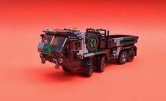 Type 00 Heavy Truck (Matt Hacker) Tags: lego heavy truck transporter flatbed hemtt my own creation moc custom camo