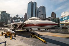 F14 Tomcat (noaxl.berlin) Tags: manhatten sony a7rii samyang rokinon walimex 14mm newyork ny architektur architecture skyscraper jet f14 tomcat topgun intrepid