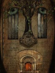 Inner Sanctum (jimlaskowicz) Tags: netartll shockofthenew moody mysterious door dark surreal mind dream artistic layers textures vintage art whimsical dreamstate