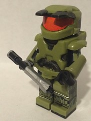 Halo Combat Evolved Master Cheif (Mike-1911) Tags: saberscorpion x39brickcustomscom brickforge brickarms masterchief117 bungie halocombatevolved lego