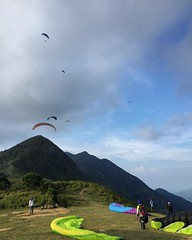 Big day out and up in the air in HK today #HongKong #paragliding