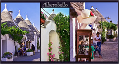 casse-tte  Alberobello / Alberobello and its trulli (www.nathalie-chatelain-images.ch) Tags: italie italia italy pouilles puglia alberobello trulli rues streets histoire history habitations traditionalhouses pierre stone nikon montage