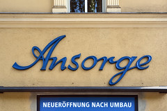 Ansorge (Florian Hardwig) Tags: mnchen storefront lettering script blue ansorge