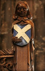 A Scottish Angel (© Jamie Mitchell) Tags: world city fish tree church glass square scotland george championship high christ arms cathedral eagle bell glasgow flag coat jesus gothic pipes scottish medieval stained nave christianity bagpipes chambers pulpit protestant bagpiper kirk scots saltire glaswegian