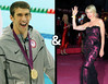 Michael Phelps and Heather Mills. He's got more gold medals than Lindsay Lohan has misdemeanours