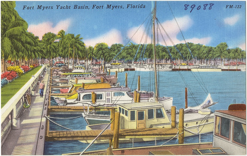 boats florida postcards tichnorbrothers