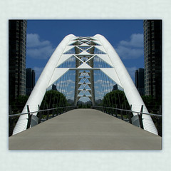 Humber Crossing ('pixler') Tags: pictures camera bridge summer toronto ontario canada building art film nature swansea architecture contrast digital photoshop computer photography design graphics flickr technology image july manipulation structure walkway squareformat lakeshore etobicoke flickrverse create fx favourite flickrdom flickrfun span edit flicker 2012 parkland flickrites thebigsmoke flickrland artography photographicarts flickrween flickrmates flickrfriendship flickrship flickrhood lakeontario flickrmas 2k12 flickrtine artographx pixler bighugz 20twelve digitalink humberbay humberriver humberbaybridge adventuretrail humbercrossing humberriverbridge