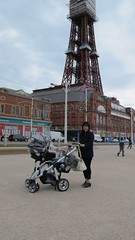 Manda in front of Blackpool Tower (lloydi) Tags: mandalloyd