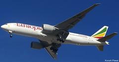ET-ANO (Kurush Pawar - DXB) Tags: canon dubai powershot boeing 777 dxb etano omdb ethiopianairlines 777200er sx210