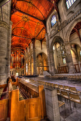 St Laurance Church (Wameq R) Tags: wood roof light orange color church netherlands woodwork rotterdam shot bracket hdr me2youphotographylevel1
