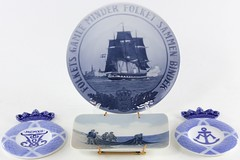 3035. Group of 4 Royal Copenhagen Nautical Dishes