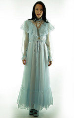 Victorian Inspired Pale Blue Chiffon & Ornamental Lace Ruffled Gown Full Length Front (mondas66) Tags: ruffles dress lace victorian chiffon dresses romantic gown elegant gowns ornate ornamental lacy sheer frilly elegance ruffle frills frill ruffled lacework frilled frilling frillings befrilled