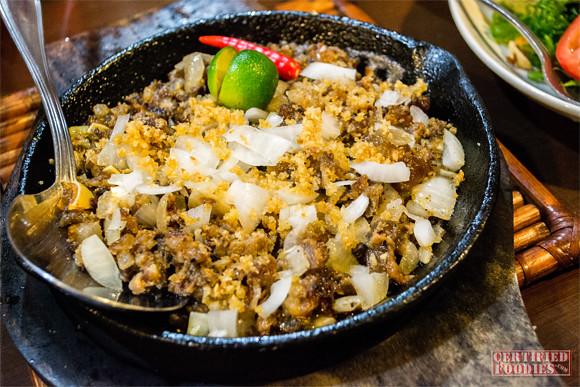 Sisig from Binulo Restaurant in Pampanga
