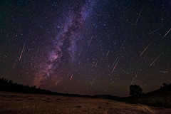 Milky Perseids (Fort Photo) Tags: news nature composite night stars landscape shower evening nikon astro astrophotography astronomy wyoming meteor wy milkyway shootingstar widefield perseid perseids d700 2012a